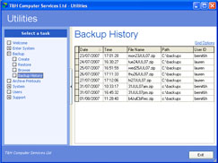 You will be able to see a history of where and when backups have been made