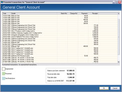 Reconciling your cashbook on screen